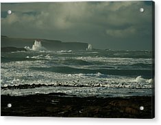 Big Sea. Slope Point Acrylic Print by Terry Perham