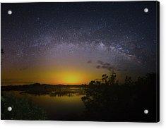 Big Sky Galaxy Acrylic Print by Mark Andrew Thomas