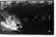 Big Wave Surfing Acrylic Print by Brad Scott