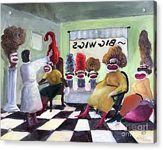 Big Wigs And False Teeth Acrylic Print by Randy Burns