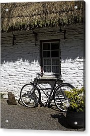 Bike At The Window County Clare Ireland Acrylic Print by Teresa Mucha