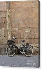 Bike Lucca Italy Acrylic Print by Edward Fielding