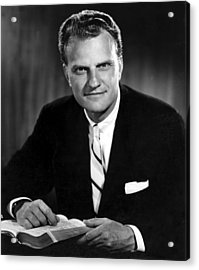 Billy Graham . Evangelist With Bible Acrylic Print by Everett