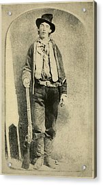 Billy The Kid 1859-81, Killed Twenty Acrylic Print by Everett