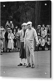 Bing Crosby And Ben Hogan Acrylic Print by Underwood Archives