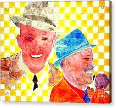 Bing Crosby And Frank Sinatra 1 Acrylic Print by Richard W Linford