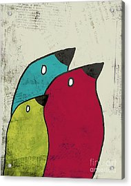 Birdies - V101s1t Acrylic Print by Variance Collections