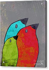 Birdies - V11b Acrylic Print by Variance Collections