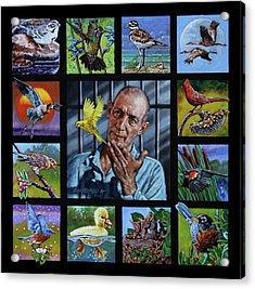 Birdman Of Alcatraz Acrylic Print by John Lautermilch