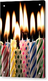 Birthday Candles Acrylic Print by Garry Gay