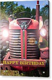 Birthday Card -- Big M-f Acrylic Print by Bob Johnson