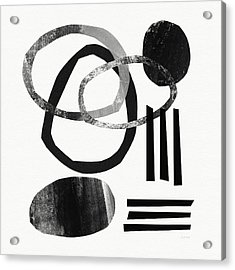 Black And White- Abstract Art Acrylic Print by Linda Woods
