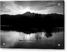 Black And White Lake Sunset Acrylic Print by James BO  Insogna