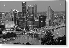 Black And White Of Pittsburgh Acrylic Print by Frozen in Time Fine Art Photography