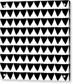 Black And White Triangles- Art By Linda Woods Acrylic Print by Linda Woods