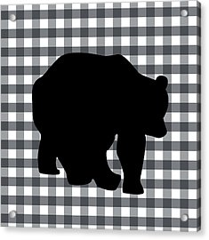 Black Bear Acrylic Print by Linda Woods