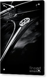 Black Beetle Abstract Acrylic Print by Tim Gainey