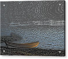 Black Harbour Nb Acrylic Print by Roger Charlebois