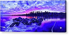 Black Ice At Twilight Acrylic Print by ABeautifulSky Photography