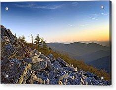 Black Rocks Summit In Shenandoah National Park Virginia At Sunset Acrylic Print by Brendan Reals