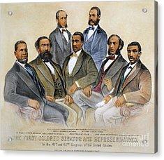 Black Senators, 1872 Acrylic Print by Granger