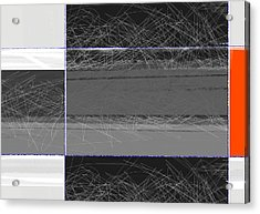 Black Square Acrylic Print by Naxart Studio