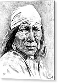 Blackfoot Woman Acrylic Print by Toon De Zwart