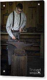 Blacksmith At Work Acrylic Print by Liane Wright