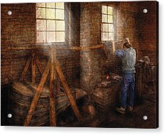 Blacksmith - It's Getting Hot In Here Acrylic Print by Mike Savad