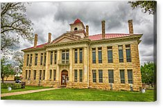 Blanco County Tx Courthouse  Acrylic Print by Stephen Stookey
