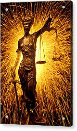 Blind Justice  Acrylic Print by Garry Gay