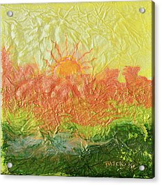 Blistering Summer Acrylic Print by Donna Blackhall