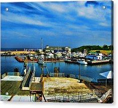 Block Island Marina Acrylic Print by Lourry Legarde