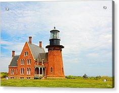 Block Island Southeast Lighthouse Artwork Acrylic Print by Lourry Legarde