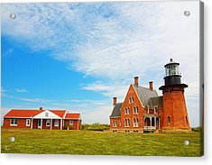 Block Island Southeast Lighthouse Rhode Island Acrylic Print by Lourry Legarde
