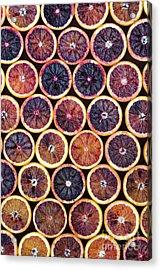 Blood Oranges Pattern Acrylic Print by Tim Gainey