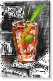 Bloody Mary Acrylic Print by Russell Pierce