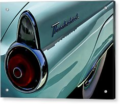 Blue 1955 T-bird Acrylic Print by Douglas Pittman