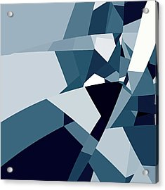 Blue Abstract 2 Acrylic Print by GuoJun Pan