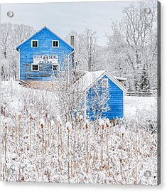 Blue Barns Square Acrylic Print by Bill Wakeley