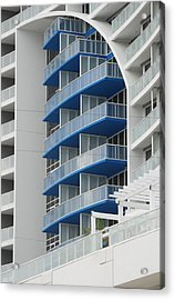 Blue Bayu Acrylic Print by Rob Hans