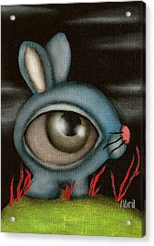 Blue Bunny Acrylic Print by  Abril Andrade Griffith