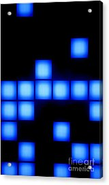 Blue Cubes Acrylic Print by Brandon Tabiolo - Printscapes