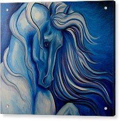 Blue Drama Acrylic Print by Leni Tarleton