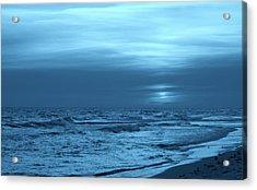 Blue Evening Acrylic Print by Sandy Keeton