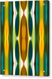 Blue Green Yellow Modern Art  Pattern 14 Acrylic Print by Amy Vangsgard