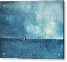 Blue Acrylic Print by Kristina Bros