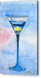 Blue Martini Acrylic Print by Arline Wagner
