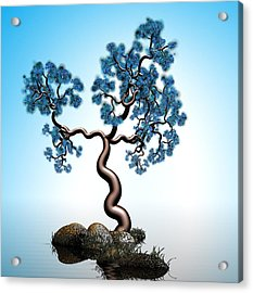 Blue Math  Tree 2 Acrylic Print by GuoJun Pan