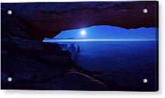 Blue Mesa Arch Acrylic Print by Chad Dutson
